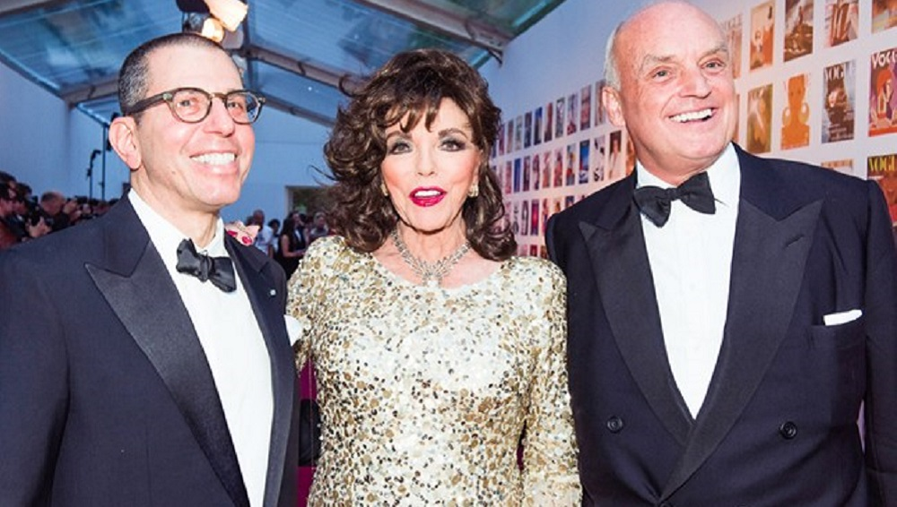Jonathan Newhouse, Joan Collins e Nicholas Coleridge
