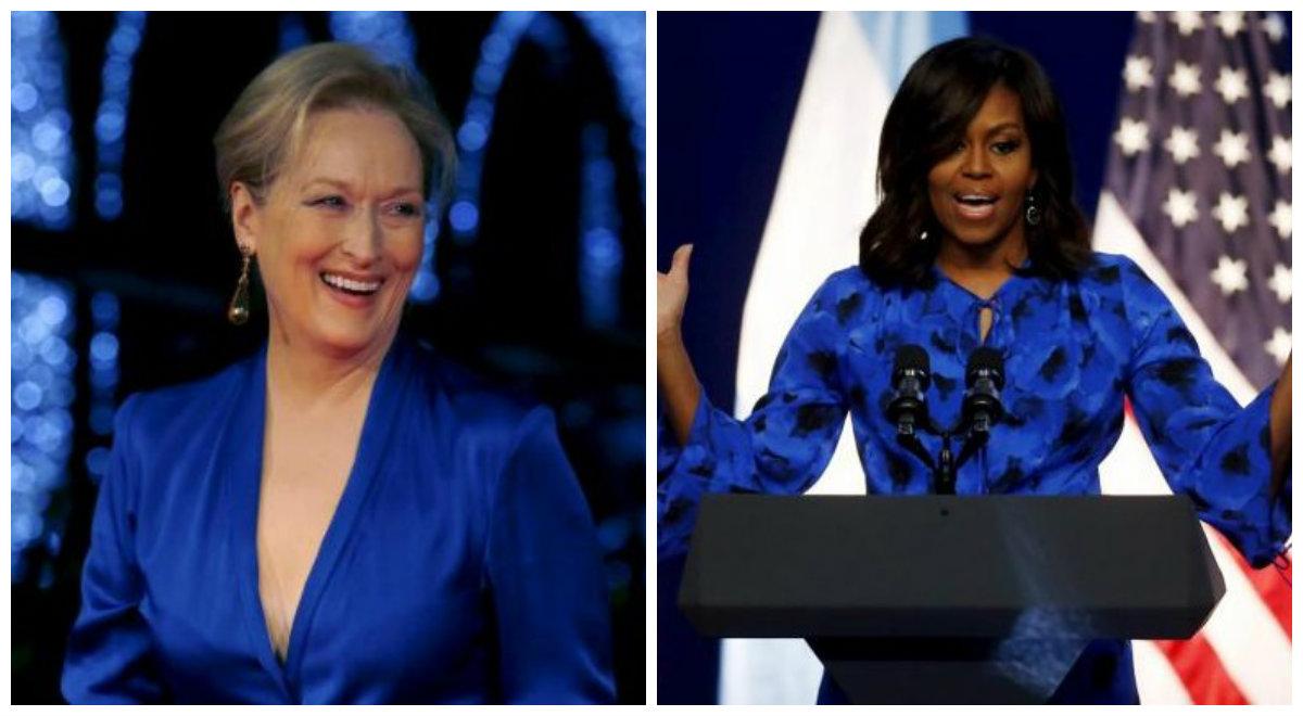 Meryl Streep, de 66 anos, e Michelle Obama, de 52