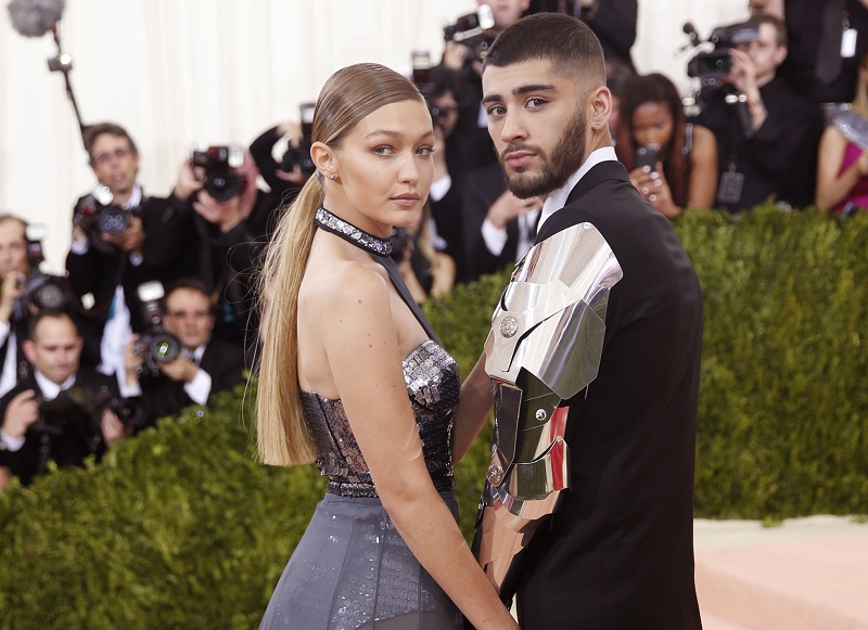 Model Gigi Hadid and singer Zayn Malik arrive at the Met Gala in New York