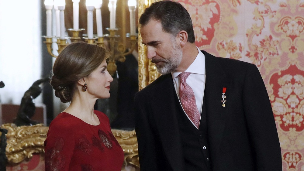SPANISH ROYAL COUPLE CHAIRS THE TRADITIONAL RECEPTION TO THE DIPLOMATIC CORPS ACCREDITED IN SPAIN