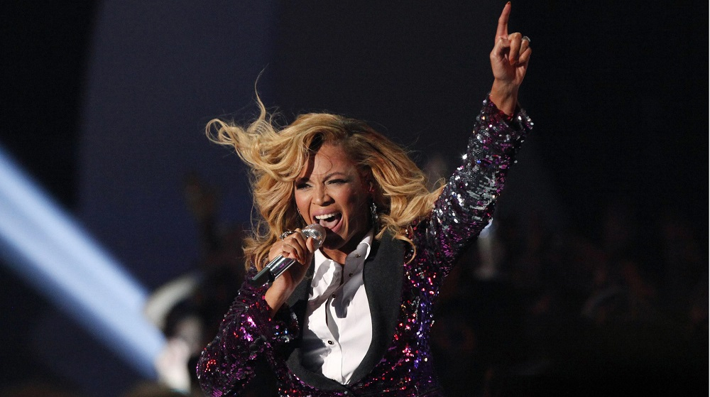 Beyonce performs at the 2011 MTV Video Music Awards in Los Angeles