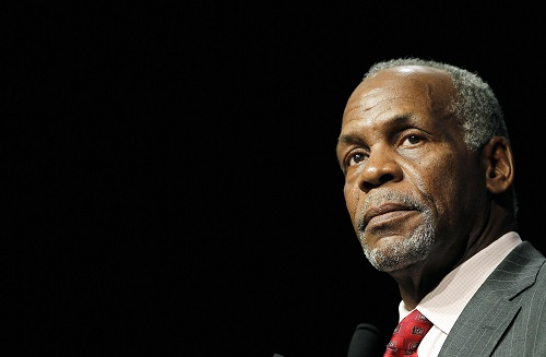 U.S. actor Danny Glover delivers his speech during a homage ceremony during the 37th American film festival of Deauville