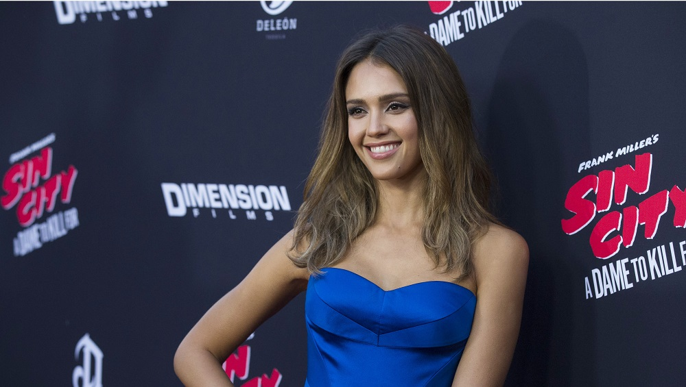 "Cast member Alba poses at the premiere of ""Sin City: A Dame to Kill For"" in Hollywood"