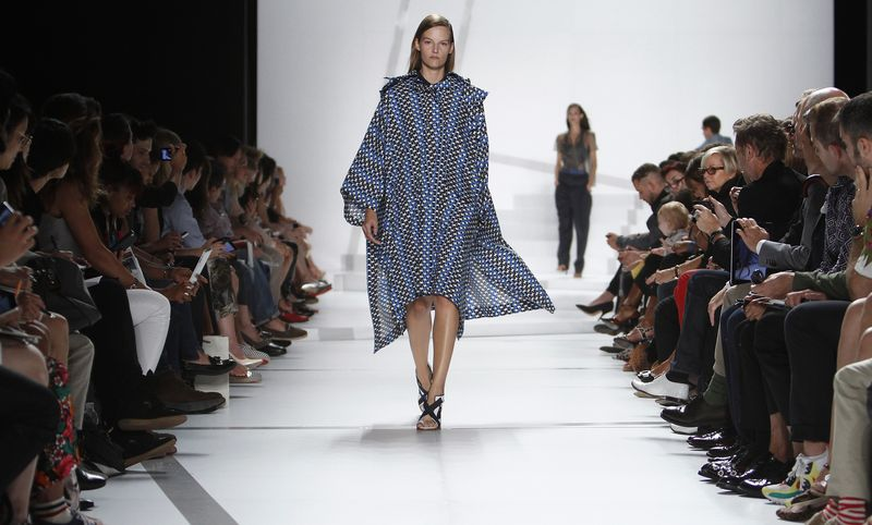 A model presents a creation during the Lacoste Spring/Summer show during New York Fashion Week