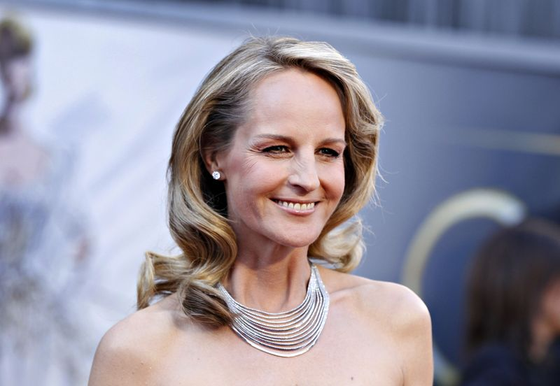"Helen Hunt, best supporting actress nominee for her role in ""The Sessions"", arrives at the 85th Academy Awards in Hollywood"